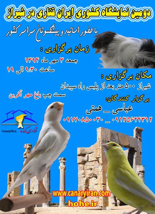 نمایشگاه های قناری نمایشگاه قناری شیراز 94 نمایشگاه قناری شیراز نمایشگاه قناری امسال نمایشگاه قناری 94 نمایشگاه قناری دومین دوره نمایشگاه قناری شیراز